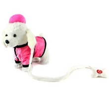 My dancing pup pet electronic toy/stuffed electronic sound toy puppy /battery operated toy walking dog