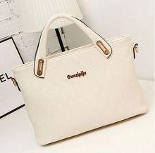 korean womens fashion pu leather hobo tote handbag