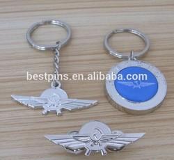 Metal Embossed Wings Keychain/Key fob/Key ring