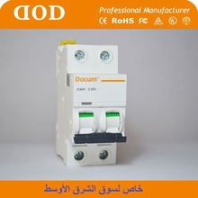 Indicating Light Arc Shap Handle 6A 63A 4P Mini Circuit breaker ce certificate dz47 isolator switch