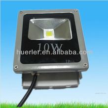CE&RoHS 2 warranty ip66 100~240v 10watt rechargeable waterproof outdoor led flood light rgb