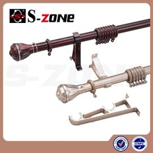 Rustic style wall mounted 27mm curtain pole with cheap price