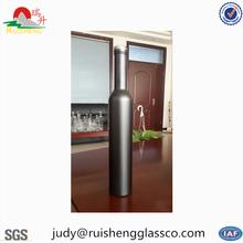 Wholesale 750ml black glass wine liquor bottles, small glass bottles