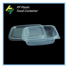 Tenghua einweg pp klare kunststoff-lebensmittel-container/Kunststoff futterbehälter