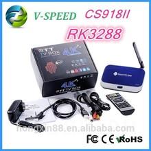 android TV BOX RK3288 smart tv box cs918ii 4k XBMCset top box support google play apk install