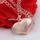 Kid's plain bell series glossy rose gold heart jingle bell ball Engelsrufer shining pendant for children women