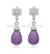Alibaba china antique rose quartz drop earring