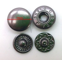 Wholesale 10mm Gunmetal Brass Metal Snap Button Press Popper Snap For Garment Fasteners Belt Handbag Accessory HW08-SP10E
