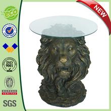 "26"" Big Lion Head Originality Table Statue Coffee Tables"