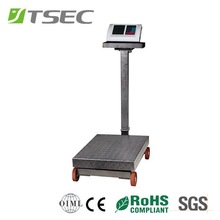 stainess platform weighing parts with wheel platform scale