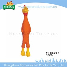 Eco-friendly natural rubber chicken for dog toy