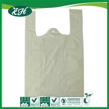 promotional recyclable custom t-shirt yellow plastic bags