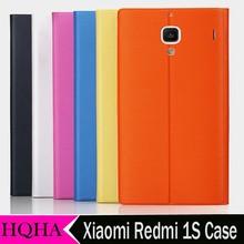 Original Xiaomi Redmi Hongmi Red Rice 1s Flip Leather PU Case Protective Cover for xiaomi redmi 1s