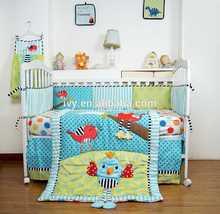 New Design Pretty Crib Set plain fashion design plain pink crib bedding set