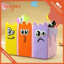Waste material art fabric felt craft pencil container