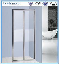 frost half glass shower door made in Pinghu Zhejiang 6493