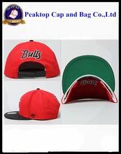 Customize Flat Bill Hats Snap Back/Snapback Caps Wholesale 6 Panel Cap Baseball Hat
