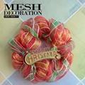 deco poli malla de decoración para el hogar coronas de flores para la decoración de navidad