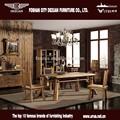 de alta calidad de madera rústica mesa de comedor y silla