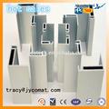 6063-t5 prata perfil de alumínio extrudado para trilhos de vidro canal de fundo fabricante