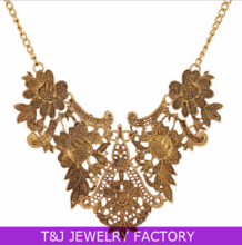2014 AU&EU populated flower shaped necklace simple choker necklace old fashion necklace