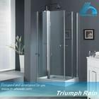 ACOC2807CL double pivot door shower enclosure