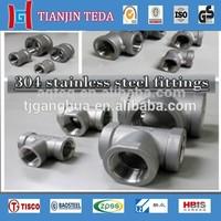 high pressure 304 stainless steel pipe fittings