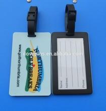 northumbria golf breaks soft pvc bag tags, northumbria pvc golf bag tags