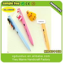 Wholesale cheapest high-quality pen charm,small write cartoon pen toper