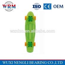 High performance transparent plastic longboard with ABEC9 bearing 22'' mini cruisers skateboard