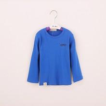 R&H popular OEM new fashion European style kids cotton inner long sleeve t shirt