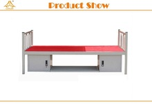 single bed folding metal wall bed with storage and rack