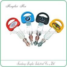 Fashion design different color slow low hot sale plastic car key pen