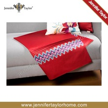 american design classic style fabric Cherry Red Satten Embroidered Woven fabric home furnishing throw