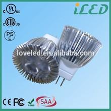 ETL CE ROHS approved 45 Degree led mr11 spotlight 2700k 6000k 3W 12 Volt gu4 led bulb