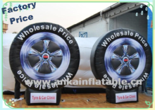 Hot sale custom inflatable tire for adevrtising