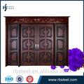 alta qualidade folha dupla de entrada de madeira porta de segurança