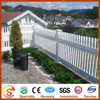 High privacy white plastic picket weave fencing cheap vinyl fence for village