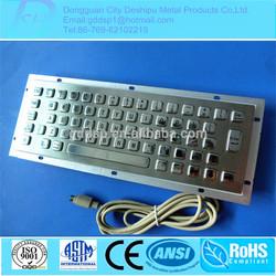 Superior Quality Customized Industrial USB/Kiosk Metal Keyboard