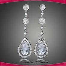 2015 fancy elegant teardrop shape earrings bali jewelry AAA earring bridal earrings