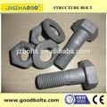 Alta resistência parafusos sextavados para estrutura de aço( iso9001 certificado)
