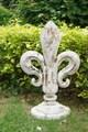 24 polegadas resina estátua do jardim arma remate estátua ao ar livre remate estátuas