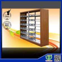 Legno di alta qualità bordo in acciaio scaffale/libreria