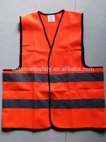 Cheap reflective zipper safety vest