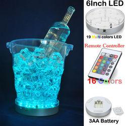 Ice Bucket Decoration Light Multicolor Round LED Light For Glass Vase