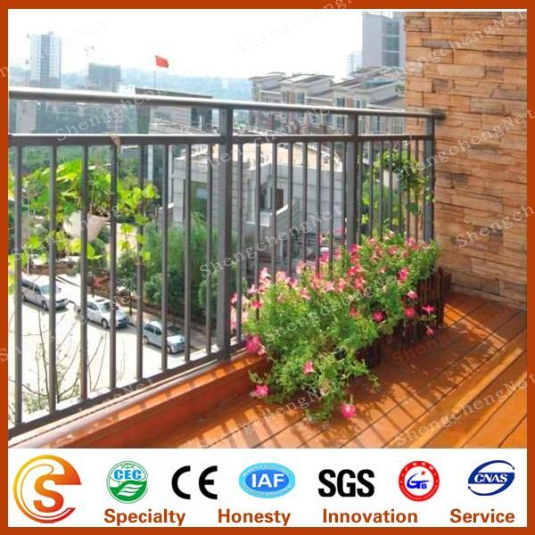 Decorative balcony grill design veranda fence pvc for Balcony safety grill designs