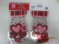 New design Valentine's day plastic products plastic stick bag, plastic treat bag, plastic candy bag,