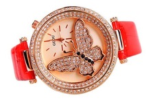 new fashion butterfly watch japan movement stainless steel back women