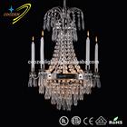Thailand lustre de cristal high quality modern crystal chandelier lighting GZ10006-5+1P