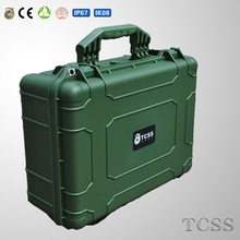 Waterproof Anti-shock injection molded plastic tool boxes with foam